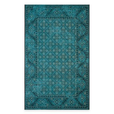 Safavieh Palazzo Pace 5-Foot x 8-Foot Area Rug in Turquoise/Cream