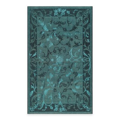 Safavieh Palazzo Kalei 4-Foot x 6-Foto Area Rug in Black/Turquoise