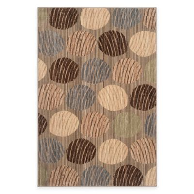 Safavieh Infinity Dots 5-Foot 1-Inch x 7-Foot 6-Inch Area Rug in Beige/Taupe