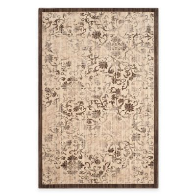 Safavieh Infinity Damask 5-Foot x 7-Foot Area Rug in Yellow/Brown