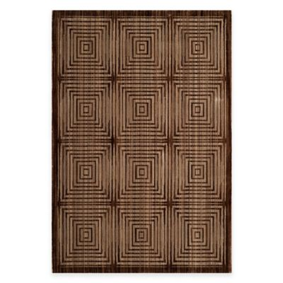Safavieh Infinity Squares 2-Foot x 8-Foot Runner in Brown/Beige