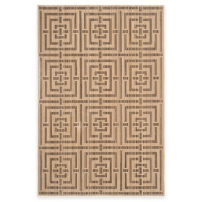 Safavieh Infinity Collection Maze 8-Foot x 10-Foot Area Rug in Yellow/Taupe
