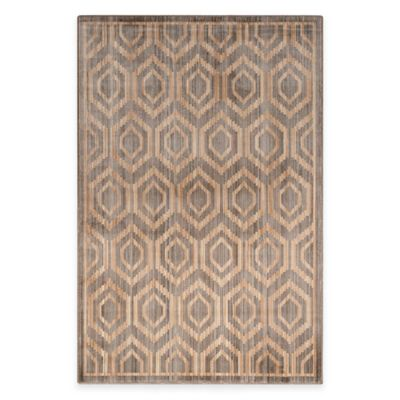 Grey Beige Diamonds Rug