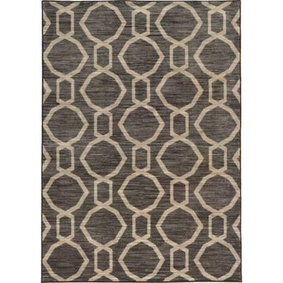 Oriental Weavers Harper Modern Circles 3-Foot 3-Inch x 5-Foot 5-Inch Area Rug in Grey