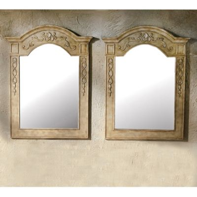 Antique White Bathroom Wall Mirrors