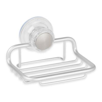 InterDesign® Metro Turn-N-Lock Suction Soap Dish in Silver