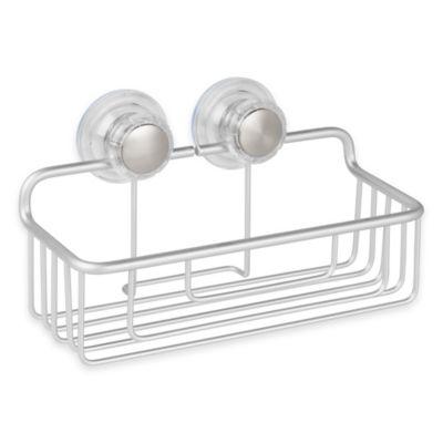 InterDesign® Metro Turn-N-Lock Suction Basket in Silver