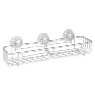 InterDesign® Metro Turn-N-Lock Suction Extra-Large Basket in Silver