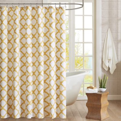 Yellow / White Shower Curtains