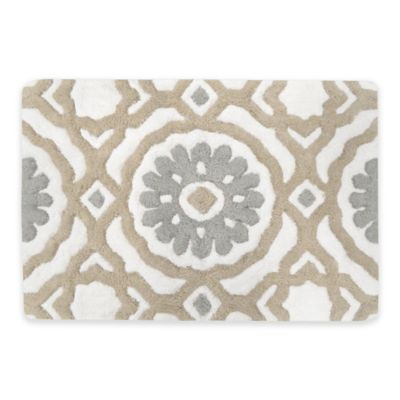 Andrea 30-Inch x 20-Inch Bath Rug in Natural