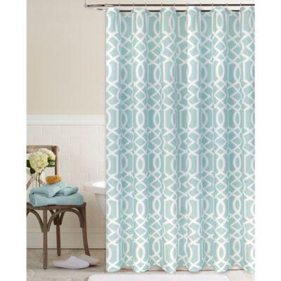 Megan Shower Curtain in Aqua