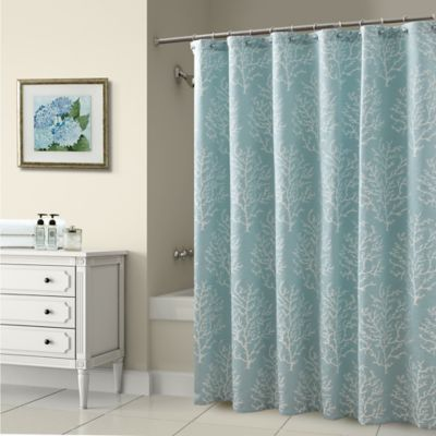 Croscill® Reef 72-Inch x 72-Inch Shower Curtain in Blue