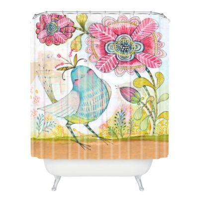 DENY Designs Cori Dantini I Love You More Shower Curtain in Pink