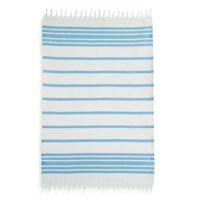 Herringbone Fouta Pestemal Beach Towel in Beige