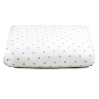 Liz and Roo Modern Damask Fitted Crib Sheet in Aqua Dot