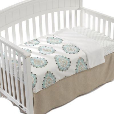 Sand/Aqua Baby Bedding