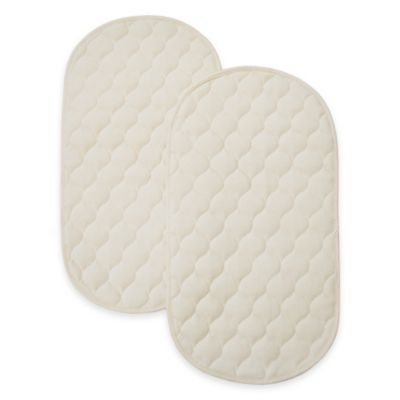 TL Care Organic Cotton Waterproof Playard Changing Table Pads (Set of 2)