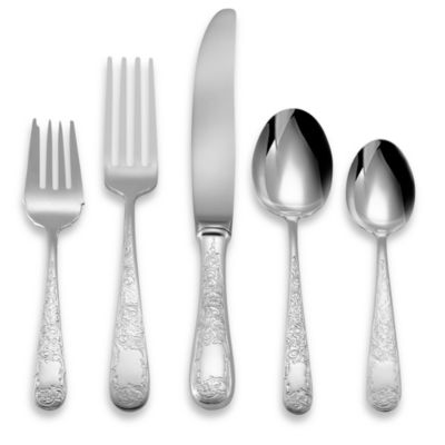 Old Maryland Engraved Sterling Silver 5-Piece Flatware Place Setting
