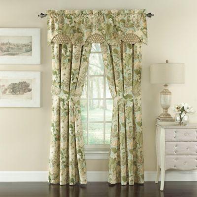 Waverly® Garden Glory Floral 84-Inch Window Curtain Panel Pair in Mist