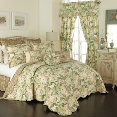 Waverly® Garden Glory Reversible King Bedspread Set in Mist