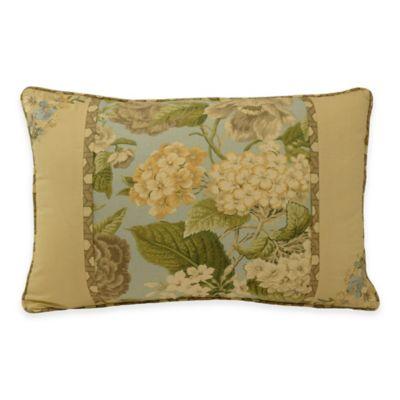 Waverly® Garden Glory Oblong Throw Pillow in Mist