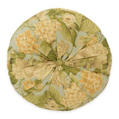 Waverly® Garden Glory Round Throw Pillow in Mist