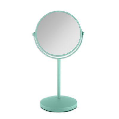Blue Mirrored Glass