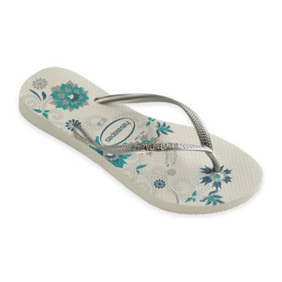 Havaianas® Size 6 Slim Organic Women's Sandal in White/Silver