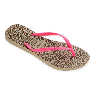 Havaianas® Size 11/12 Slim Animals Women's Sandal in Sand/Pink