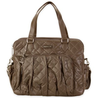Kalencom® Berlin Quilted Diaper Bag in Platinum