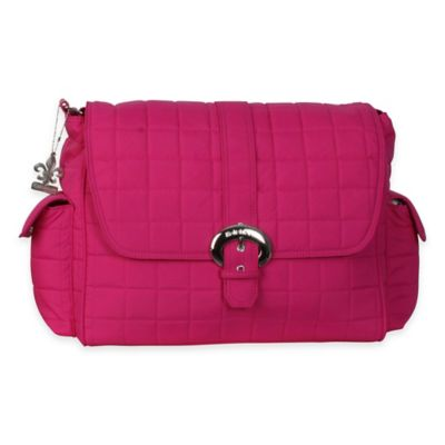 Kalencom® Quilted Buckle Diaper Bag in Fuchsia