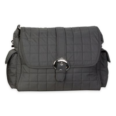 Kalencom® Quilted Buckle Diaper Bag in Charcoal