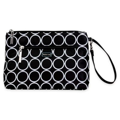 Black White Diaper Clutch