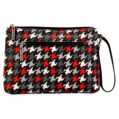 Kalencom® Diaper Clutch in Red Houndstooth