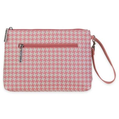 Kalencom® Diaper Clutch in Pink Houndstooth