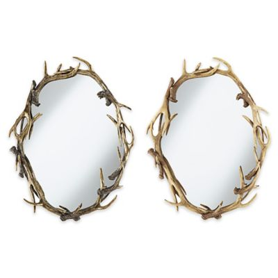 Pacific Coast Lighting 24-Inch x 30-Inch Caribou Oval Mirror in Natural