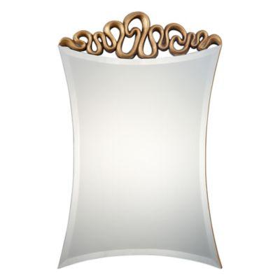 Uttermost 23.63-Inch x 36.38-Inch Essone Mirror in Gold