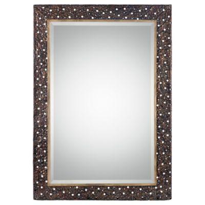 Uttermost 29.5-Inch x 41.75-Inch Khalil Mirror in Dark Bronze