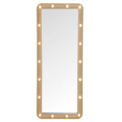 Light-Up Marquee 19.25-Inch x 47.75-Inch Over-the-Door Mirror