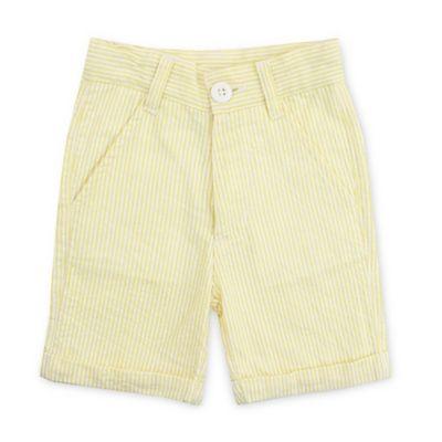 Ruffle Butts® Size 3-6M Cuffed Seersucker Short in Yellow