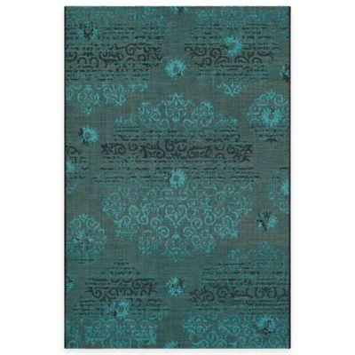 Safavieh Palazzo Olen 4-Foot x 6-Foot Area Rug in Black/Turquoise