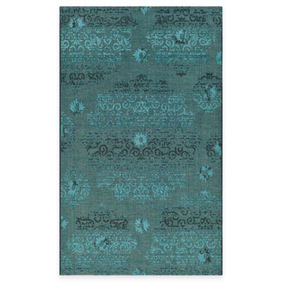 Safavieh Palazzo Olen 4-Foot x 6-Foot Area Rug in Black/Turquoise