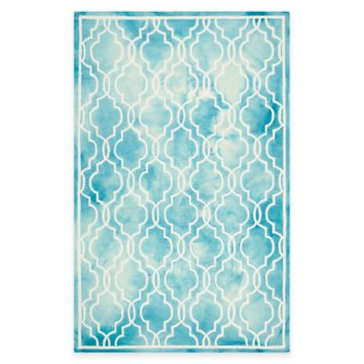 Safavieh Dip Dye Link Trellis 6-Foot x 9-Foot Area Rug in Grey/Ivory