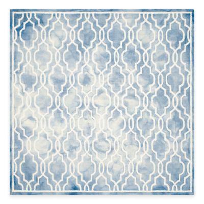 Safavieh Dip Dye Link Trellis 7-Foot Square Area Rug in Blue/Ivory
