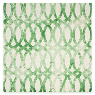 Safavieh Dip Dye Chain 7-Foot Square Area Rug in Ivory/Green