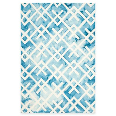 Safavieh Dip Dye Angles 5-Foot x 8-Foot Area Rug in Blue/Ivory