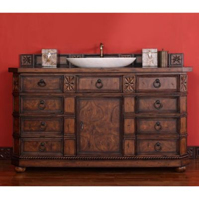 James Martin Furniture Regent 61.5-Inch Single Vanity in English Burl without Countertop