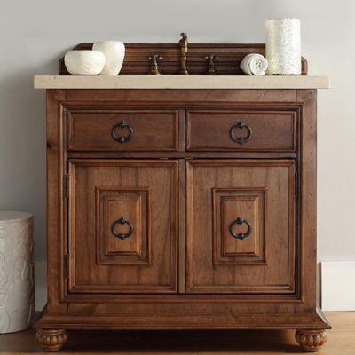 James Martin Furniture Mykonos 36-Inch Single Vanity in Cinnamon without Countertop