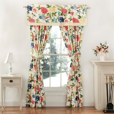 Waverly® Charmed 84-Inch Window Curtain Panel Pair in Gardenia