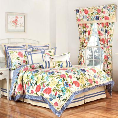 Waverly® Charmed Reversible King Comforter Set in Gardenia